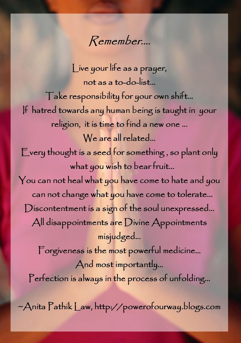Remember-Live Your Life as a Prayer